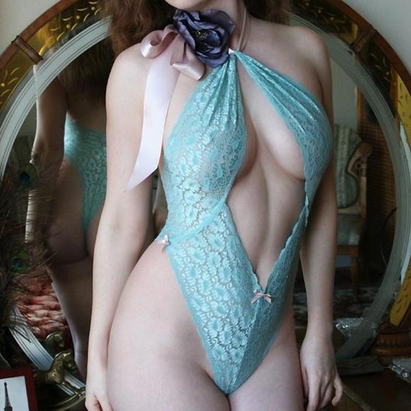 Dollhouse Bettie Other - Madison High Cut Halter Bodysuit